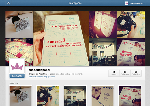 Instagram Chapéu de Papel