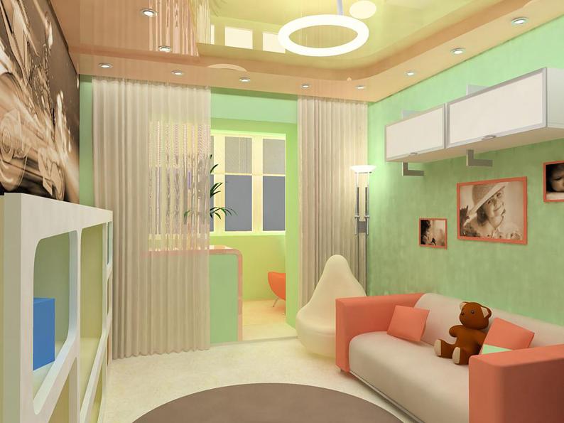 Дизайн лоджии-детской