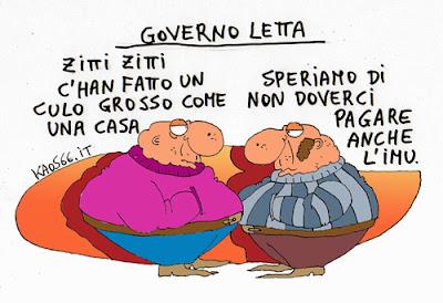 vignetta sul governo Letta