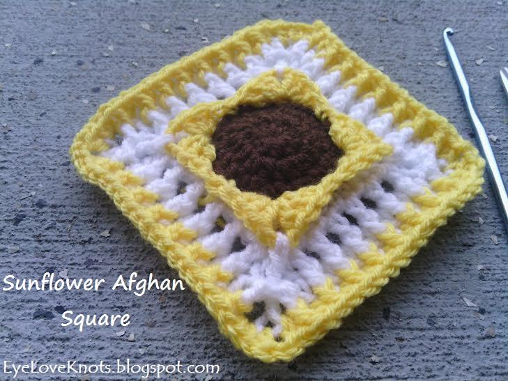 EyeLoveKnots: Sunflower Afghan Square - Free Crochet Pattern