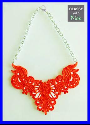bright neon orange necklace