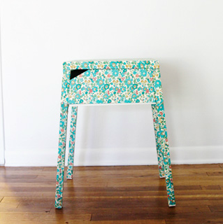 IKEA HACK MESILLA SELJE AND LIBERTY LONDON FABRIC