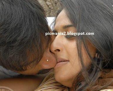 anushka shetty hot lipslock, kiss