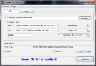 Download IgorWare Hasher v 1.7.0