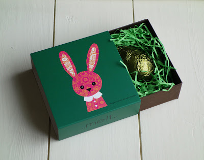 Melt Chocolate, Easter Egg in Bunny Box