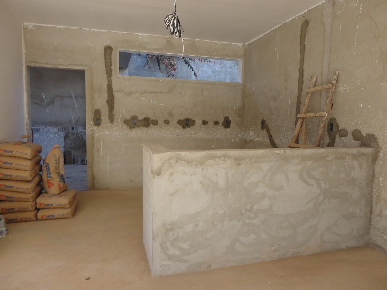 nossa casa nosso sonho : balcão da cozinha e revestimento e gesso #654B32 1600 1200