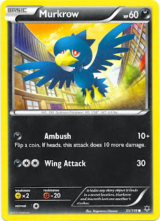 Murkrow Phantom Forces Pokemon Card