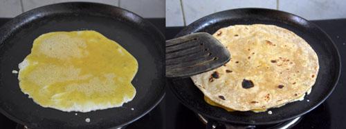 how to make egg kathi roll