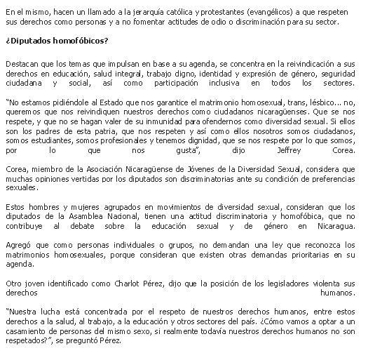 Como Ser Humano y Ciudadana Nicaraguense todos los derechos son validos