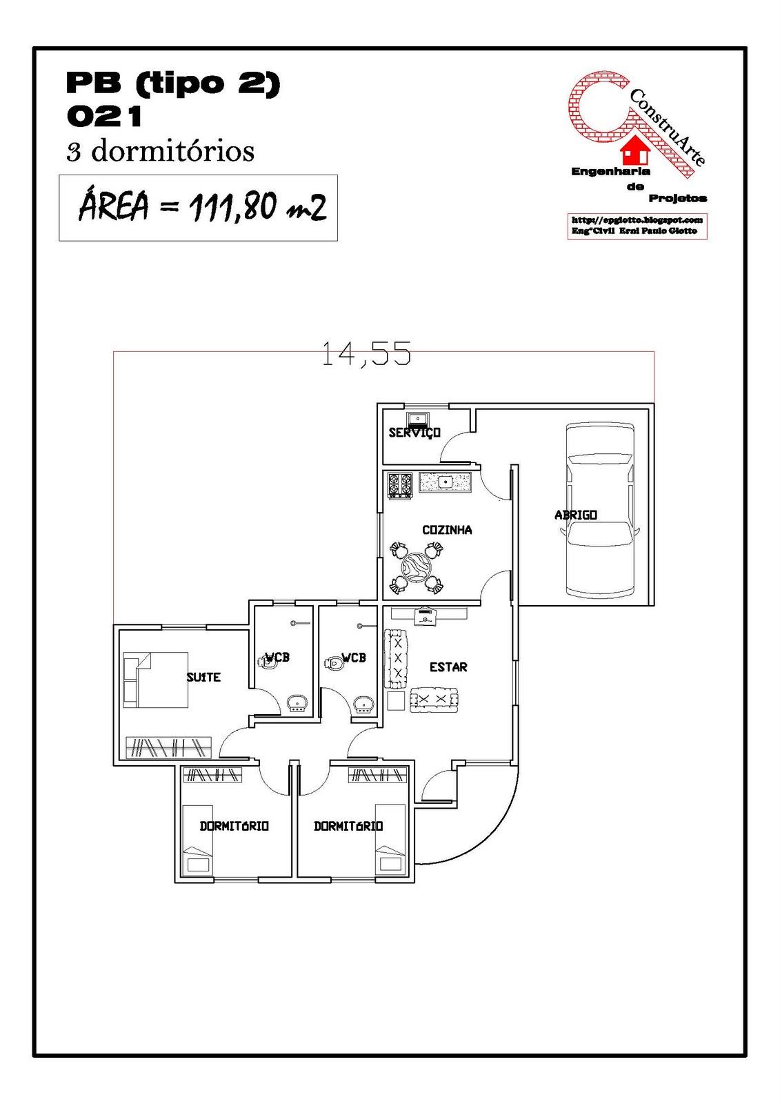 For ou Fazer CoisasProjetos Casas Projetos de Casas Projeto de 99m #C20909 1131 1600