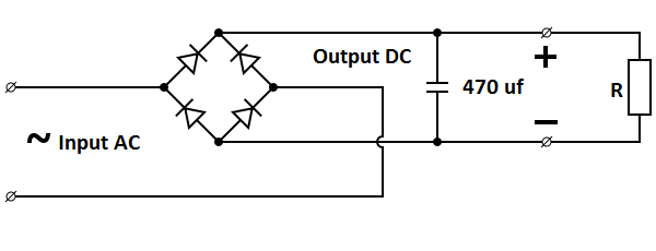 electronics project  12 v dc power supply
