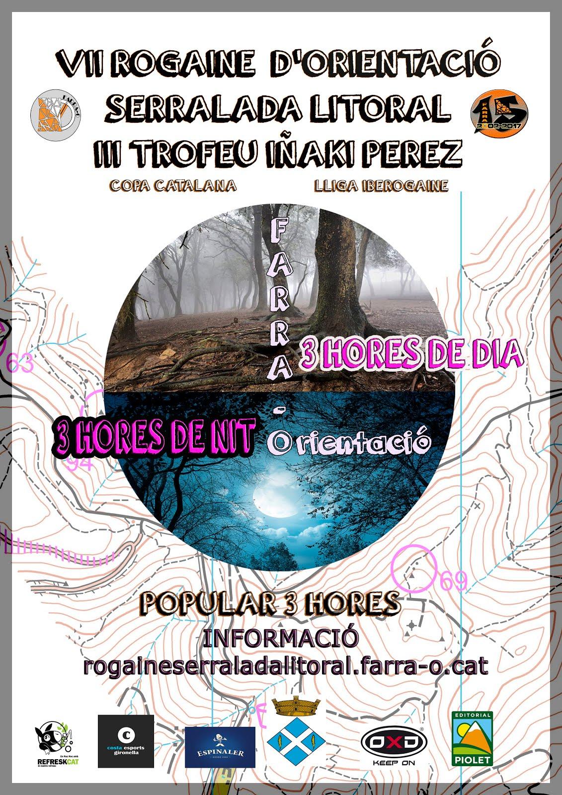 2 DE DESEMBRE - VII ROGAINE SERRALADA LITORAL - III TROFEU IÑAKI PEREZ
