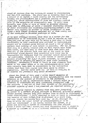 Letter To Hoover Re Green Fireballs (3) 2-26-1952