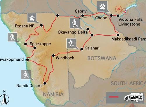 le blog du voyage et du tourisme en afrique circuit namibie botswana points forts du circuit. Black Bedroom Furniture Sets. Home Design Ideas