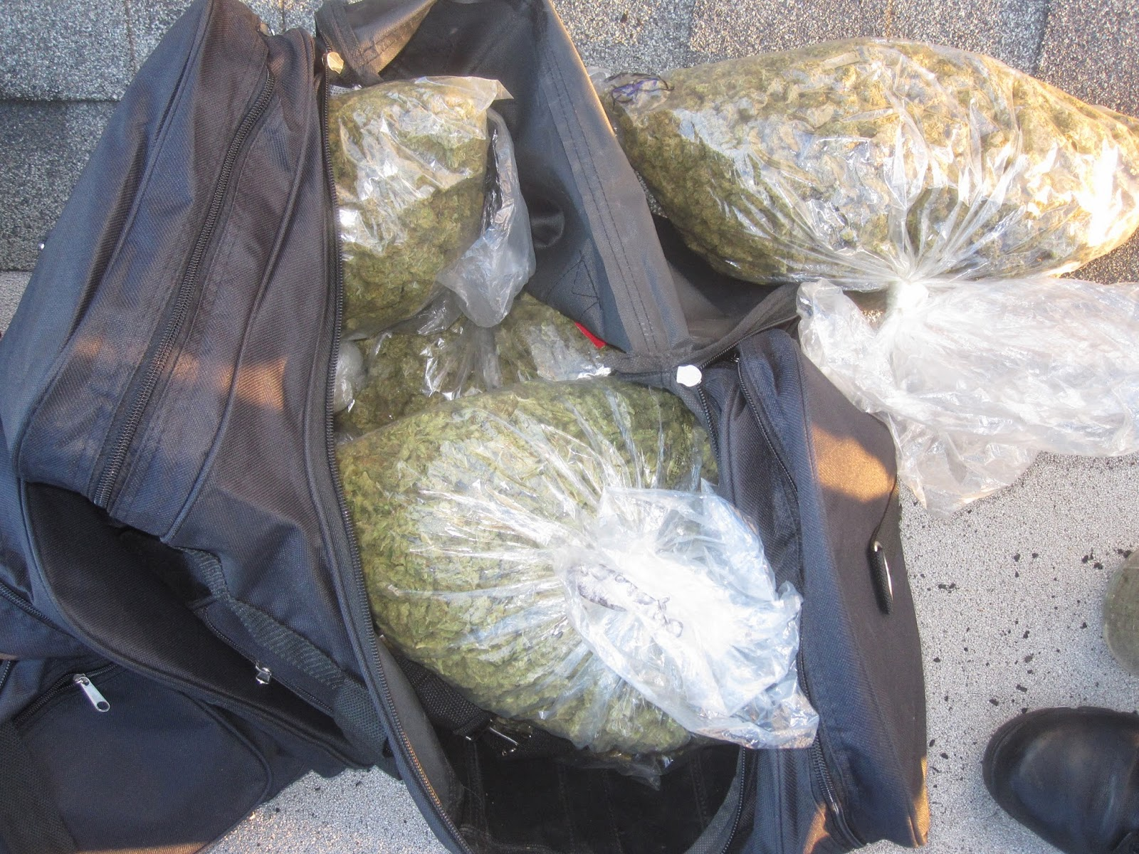 Image result for duffel bags of marijuana