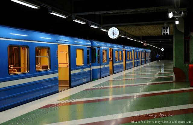 T-bana U-Bahn Station in Stockholm, Schweden