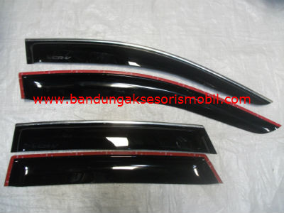 Talang Air All New CRV 07 Mugen Hitam 3M Depan Belakang