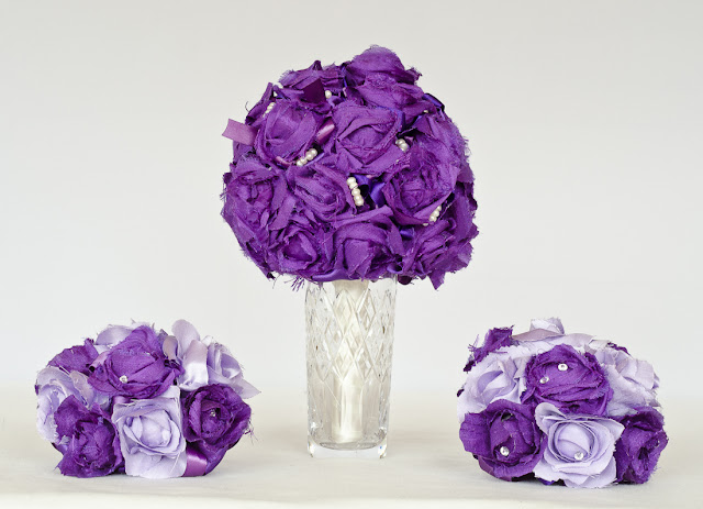 Lavender Silk Bridal Bouquet