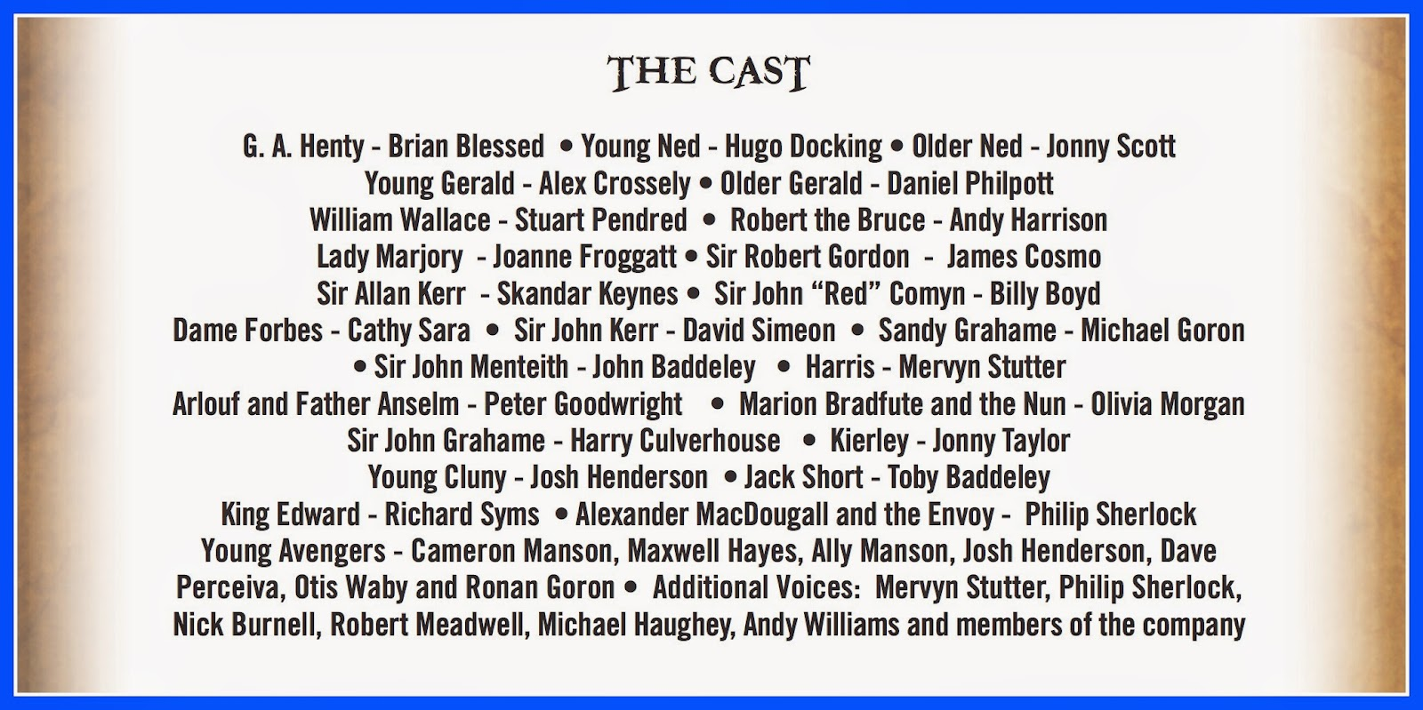 The cast of In Freedom's Cause