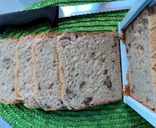 receta casera pan molde panificadora miel nueces
