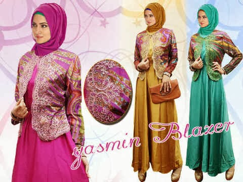 bahan satin velvet full wide + blazer brasho ornament renda. Fit to XL