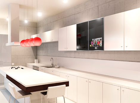 Dnde ubicar la televisin en la cocina Kansei Cocinas Servicio