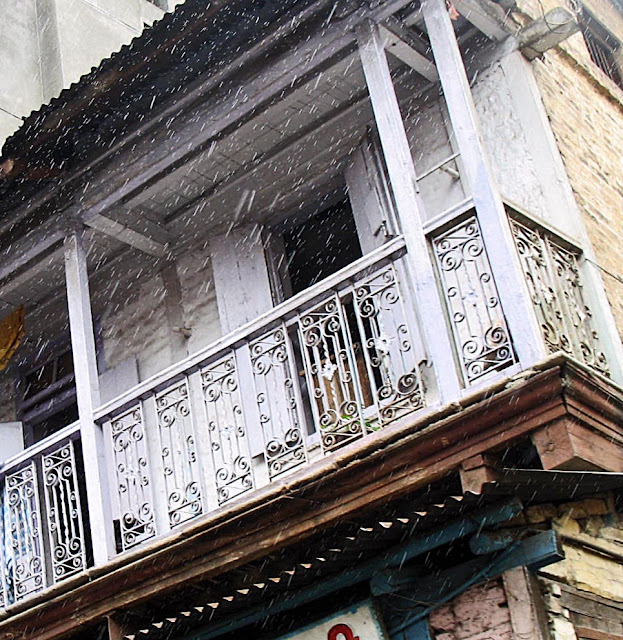 balcony of old house