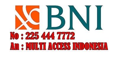 Rekening Bank BNI untuk Deposit di Chip Sakti Pulsa Murah Payment PPOB Lengkap