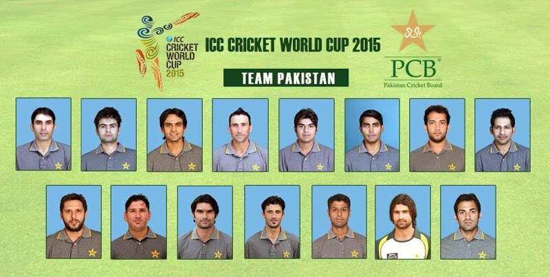 Pakistan Team at World Cup 2015