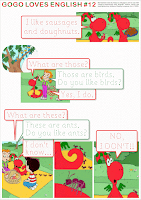 GOGO LOVES ENGLISH (self-made worksheets for the popular videos)