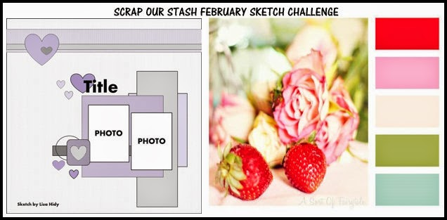 Scrap Our Stash February Sketch Challenge 23