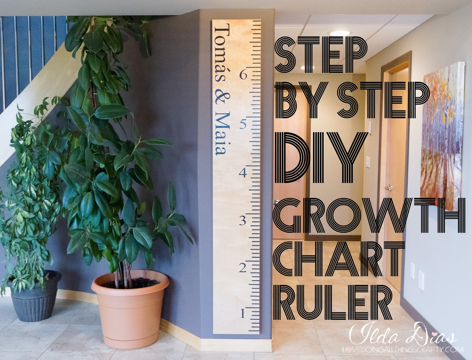 I love doing all things crafty diy growth chart ruler video diy growth chart ruler video tutorial nvjuhfo Images