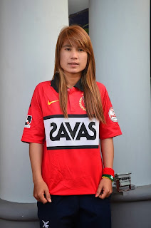 Famous female football player Than Than Htwet
