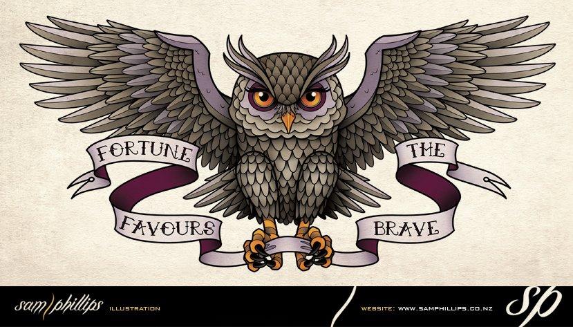 Great Horned Owl Flying Tattoo Flying Owl Tattoos | w...