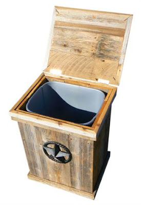 outdoor wooden ice chest