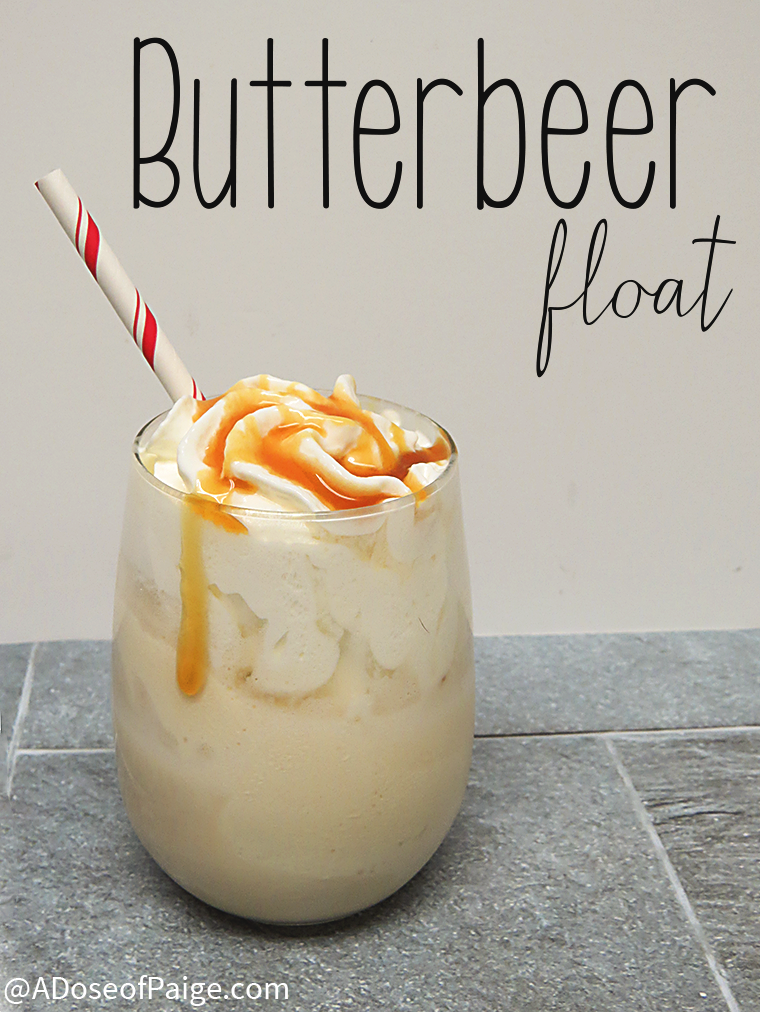 Butterbeer milkshake by A Does of Paige featured at One More Time Events.com