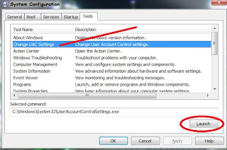 Disable User Account Control (UAC) Windows 7