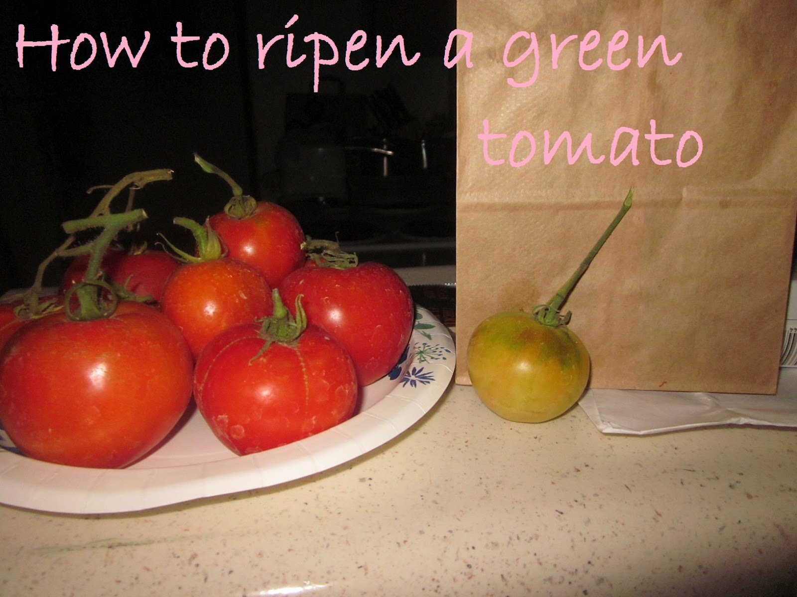 pintresting challenge how to ripen a green tomato. Black Bedroom Furniture Sets. Home Design Ideas