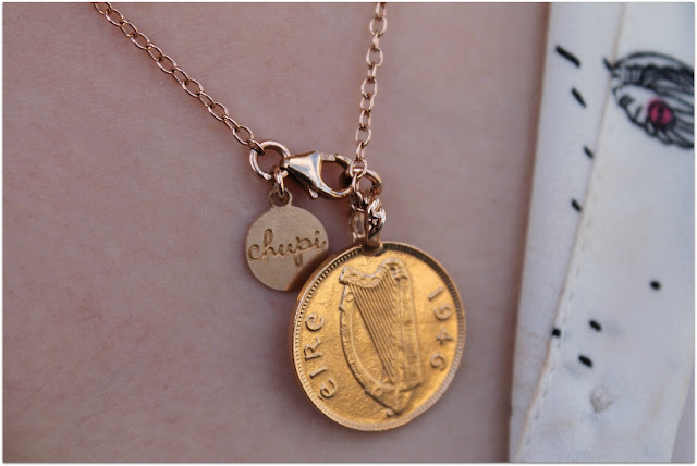 Chupi Irish Farthing Coin Necklace