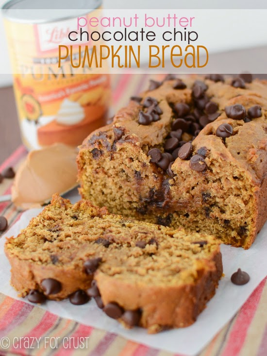 Life, Love, and Marathons: Peanut Butter Chocolate Chip Pumpkin Bread