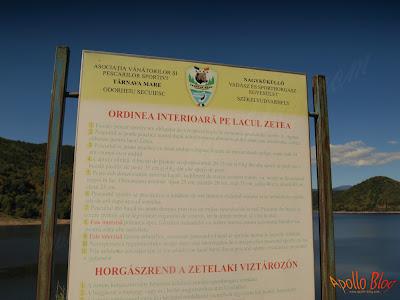 Regulament pescuit Lacul Zetea