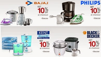 Great Discount Deal: Get Extra 10% Off on Philips, Bajaj, Kent, Black & Decker Small Home / Kitchen Appliances @ Amazon