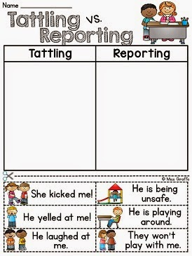these sorts are great for helping students differentiate between tattling and reporting i recommend pulling them out again for review any time in the year