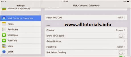 Mail, Contact, Calender on iPad