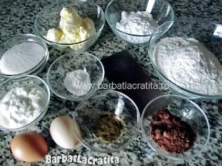 Briose cu ciocolata ingrediente reteta