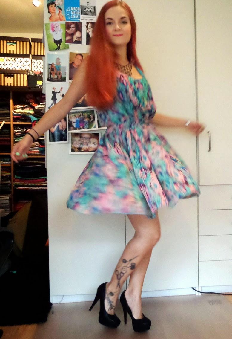 [Nähen] Chiffon Kleid - fertig!
