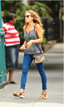 Carrie on casuals: Sarah Jessica Parker shows that simple can be chic