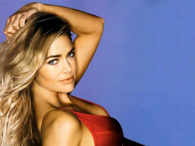 Denise Richards sexy in red dress fashion