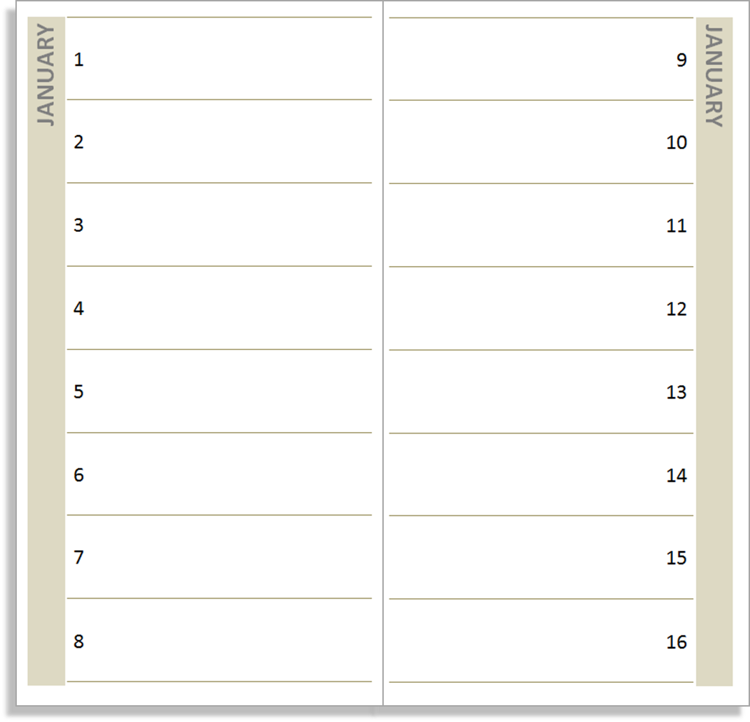 Calendar Notebook Template : My life all in one place a free birthday book for the