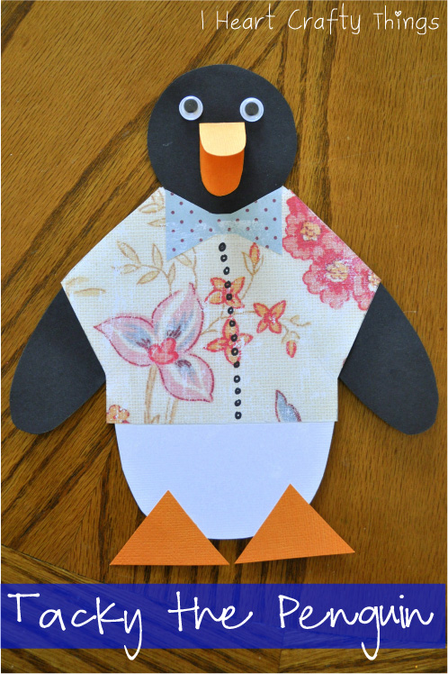 tacky the penguin craft with pattern i heart crafty things